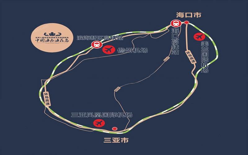 中国恒大海花岛区位图