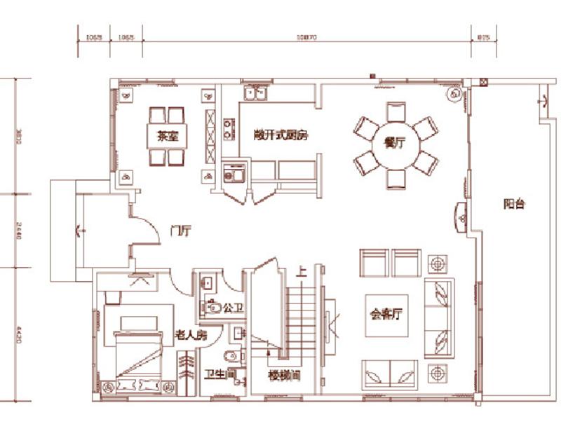 三十三棵墅A户型 5房2厅1厨5卫267
