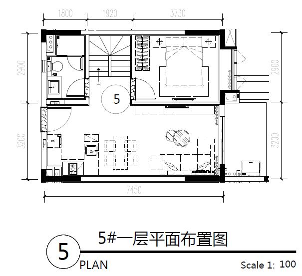 主力户型图-三房两卫2 64.08㎡