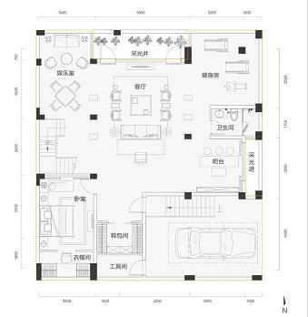 天骄 海棠湾160平叠拼别墅户型图2