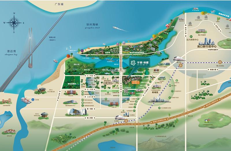 宇润绿都区位图2