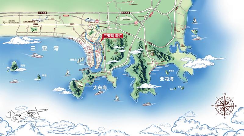 鹭湾会区位图