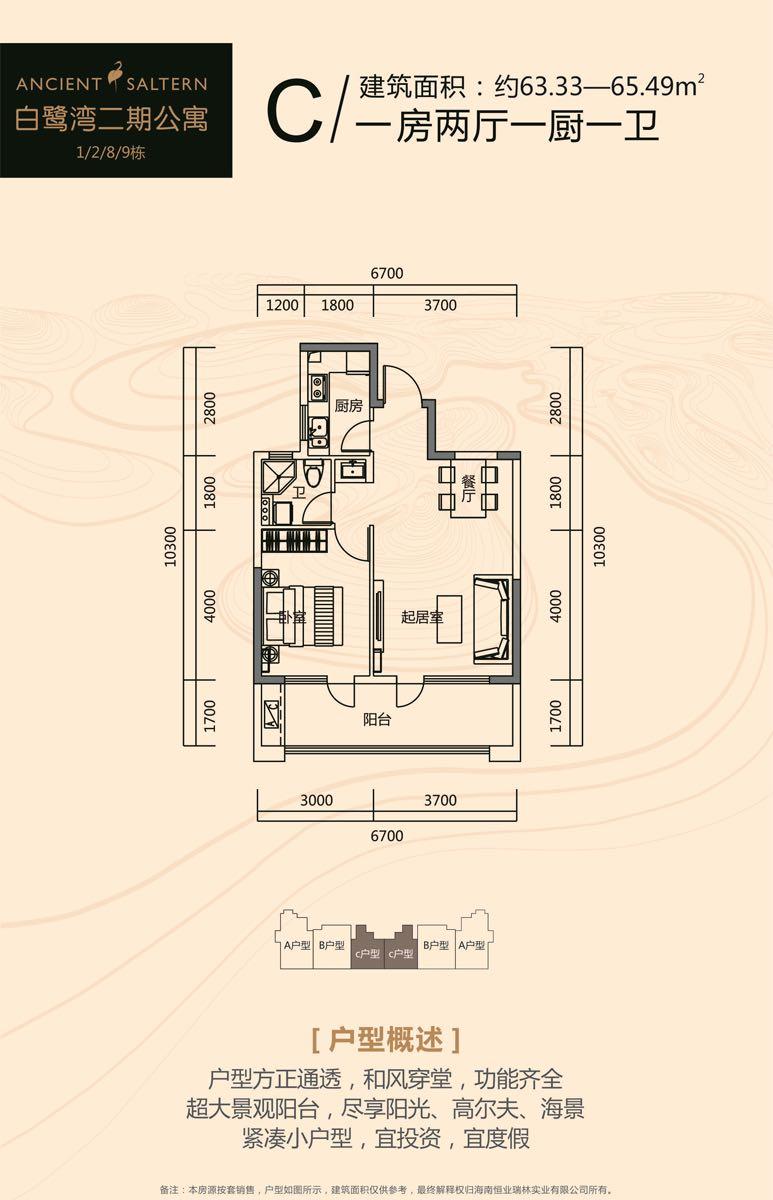 白鹭湾二期公寓C户型